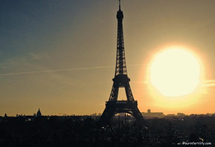 En allant au laboratoire, j'ai pris un autre chemin. J'ai pu admirer la Tour Eiffel et ce magnifique coucher de soleil. J'habite à 500m de la Tour Eiffel et pourtant je ne la regarde jamais...