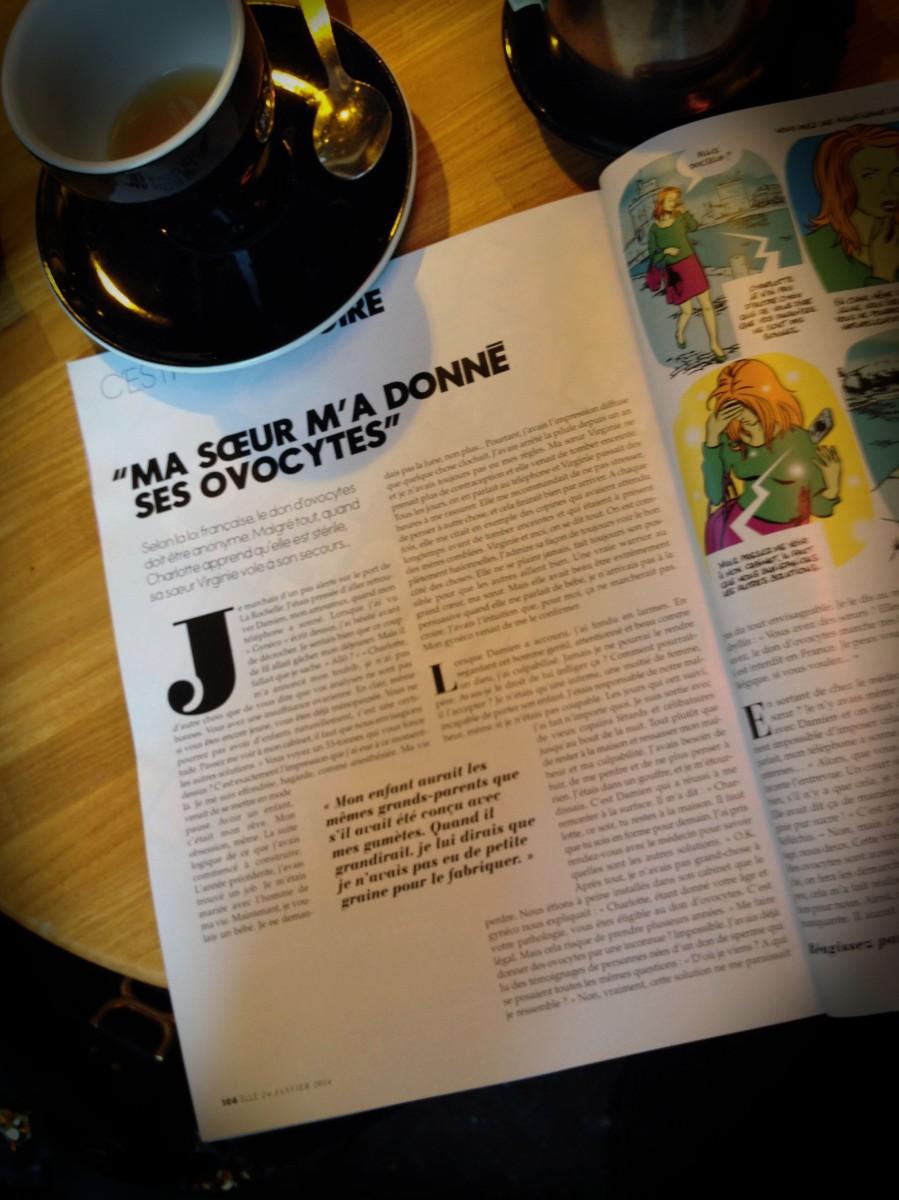 Le Magazine Elle Et Le Don D'Ovocytes Entre Soeurs