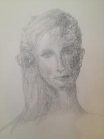 Mon dernier dessin, une femme à l'air rêveur. Qui sait les épreuves qu'elle traverse?